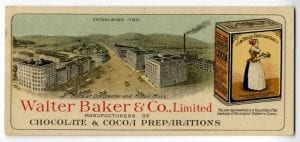 Turn of Century Baker's Ad - Candy History